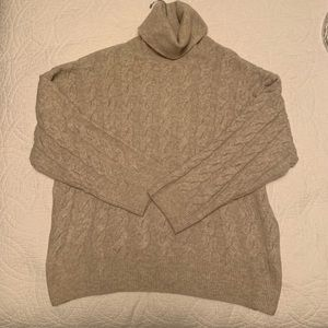 H&M Beige Turtleneck Sweater